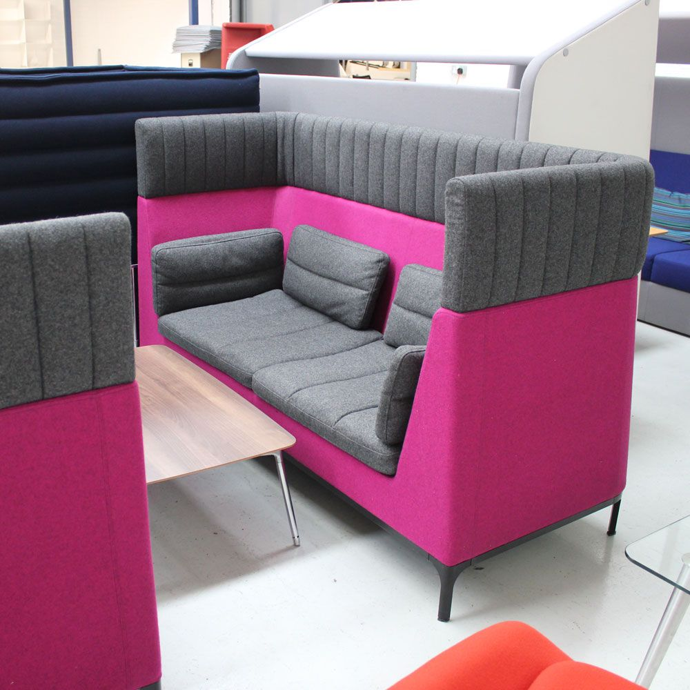 Entente High Back Sofa Allermuir Haven Two Seater High Back Sofa Pink Office Pod